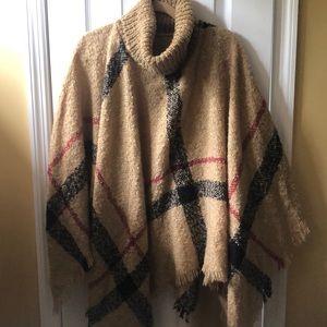 Jackets & Blazers - Plaid cape